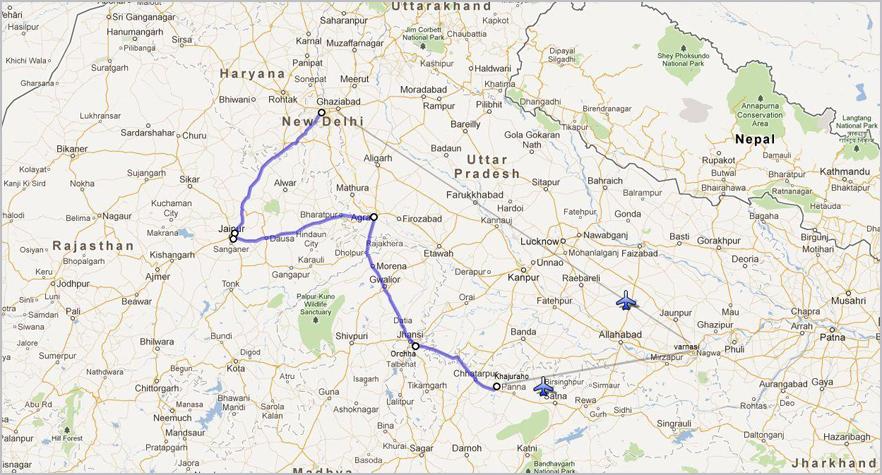Namaste Voyages - Varanasi map